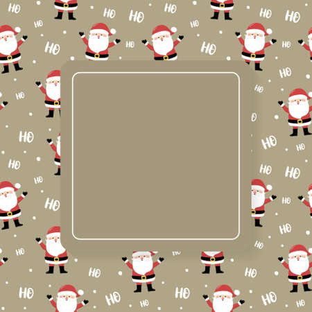 Empty card with happy Santa Claus. Christmas concept. Vector Illustration
