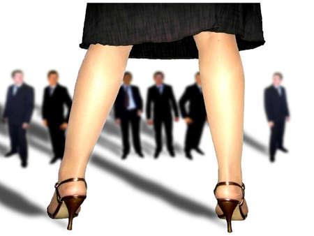 businesswoman legs: businesswoman Stock Photo