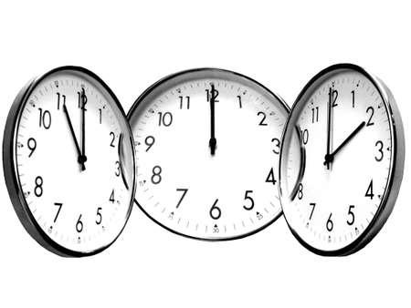 clockwise: connect clock Stock Photo