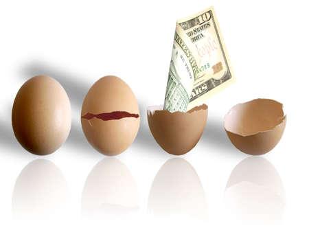 calorie rich food: eggs & dollars