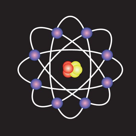 Atom structure,symbol of atom,atom ,atom illustration,covalent shell of atom