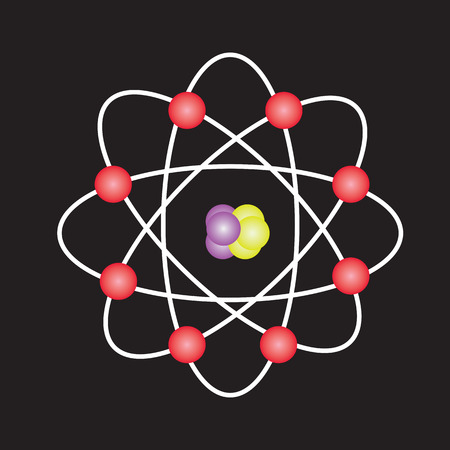 covalent: Atom structuresymbol of atomatom atom illustrationcovalent shell of atom Stock Photo