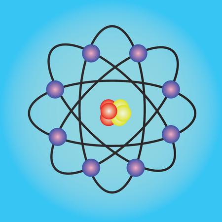 covalent: Atom structuresymbol of atomatom atom illustrationcovalent shell of atom Stock Photo