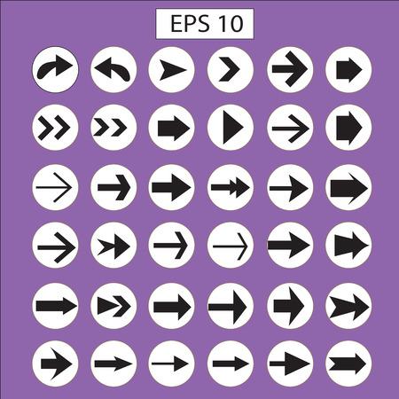 icono flecha: icono de flecha conjunto