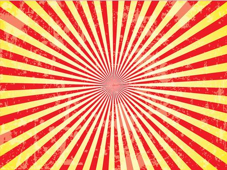 Grunge Sun Sunburst Pattern.  Çizim