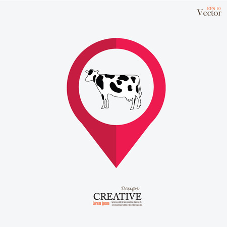 hid: cattle.cow.bull.vector illustration.