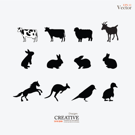farm animals: Farm animals . Livestock.vector illustration.