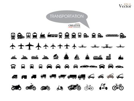 motorized bicycle: Transport icons.transportation .logistics.logistic icon.vector illustration. Illustration