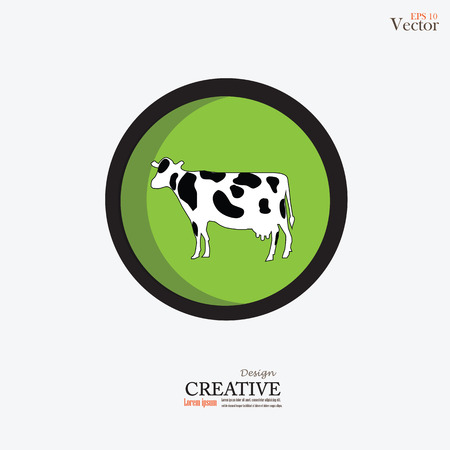 beef cattle: cattle.cow.bull.vector illustration.
