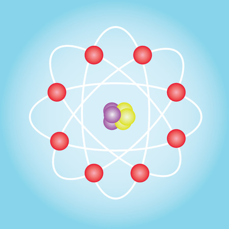 covalent: Atom structure vector,symbol of atom,atom ,atom illustration,covalent shell of atom.vector illustration Illustration