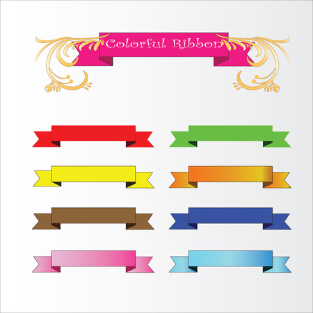 set of banner,set of ribbon, banner vector,ribbon vector .vector illustration