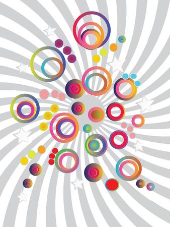 bubble background: colorato bolla di sfondo, sfondo, pattern.Vector illustrazione