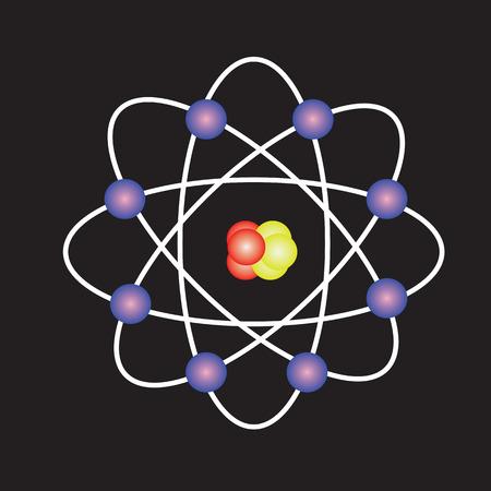 Atom structure vector,symbol of atom,atom ,atom illustration,covalent shell of atom.vector illustration Stock Photo