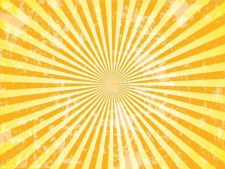 Grunge Sun Sunburst Pattern. Vector illustration, sunburst vector,sunburst retro,vintage sunburst Stock Illustratie