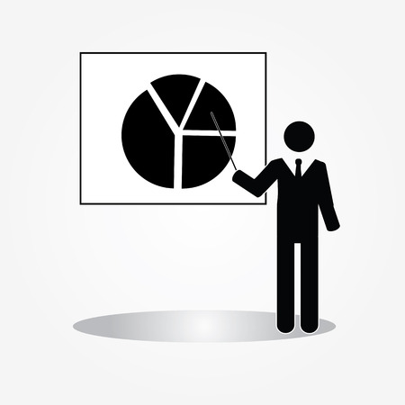recruit suit: businessman .businessman icon with graph.vector illustration.