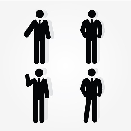 symbol people: businessman .businessman icon with graph.vector illustration.