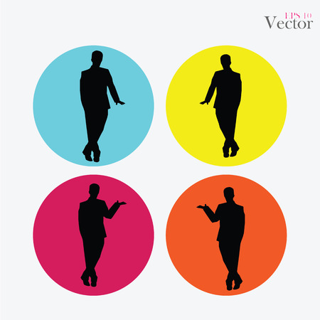recruit suit: Businessman.business man icon.vector illustration.
