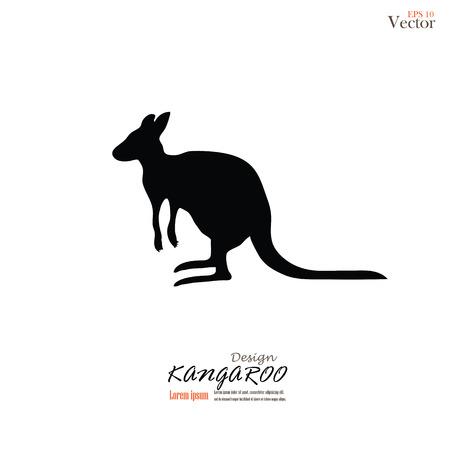 animal pouch: Kangaroo icon vector.kangaroo.vector illustration.