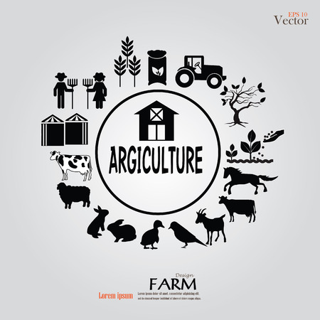 Farm  icon.farm icon with animals.farm.vector illustration.