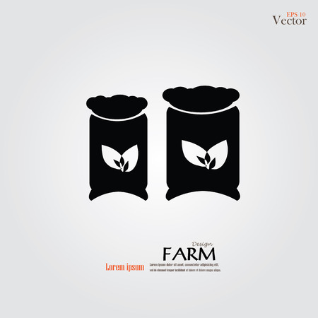 fertilize: Fertilizer. Fertilizer icon on gray background.vector illustration.