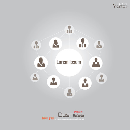 mlm: Business man network.connecting people.network concept.vector illustration.