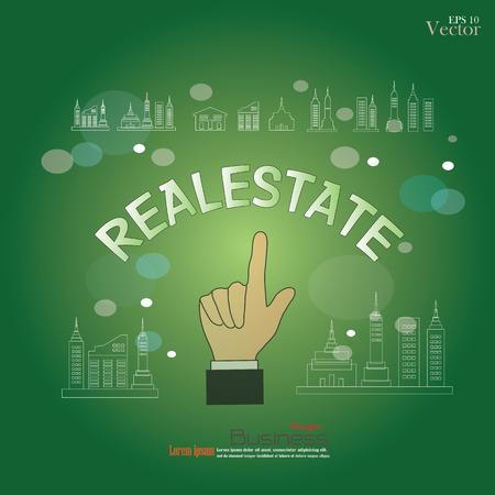 realestate: Hands pointing realestate. Realestate concept.vector illustration. Illustration