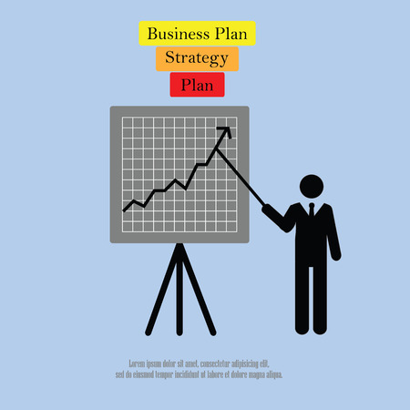 recruit suit: Businessman.business man icon with graph.vector illustration. Illustration