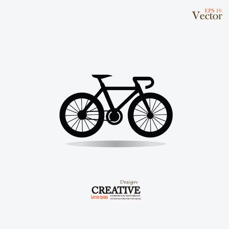 Bicycle icon.vector illustration. Stock Illustratie