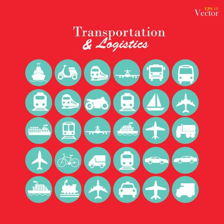 transport: Transport icons.transportation .logistics.logistic icon.vector illustration. Illustration
