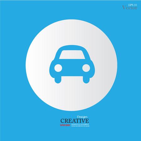 Icoon Car .CAR. Vector illustratie. Stock Illustratie
