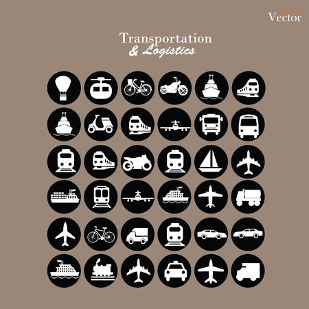 icons.transportation de transport .logistics.logistic icon.vector illustration.