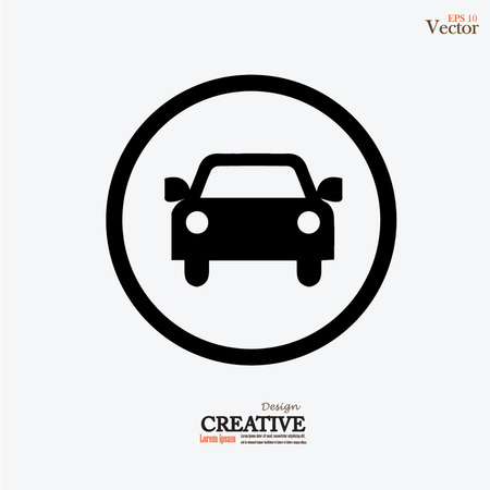 Car .car icon. Vector illustration.