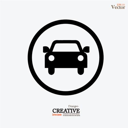 car: Icon Car .car. Illustrazione vettoriale. Vettoriali