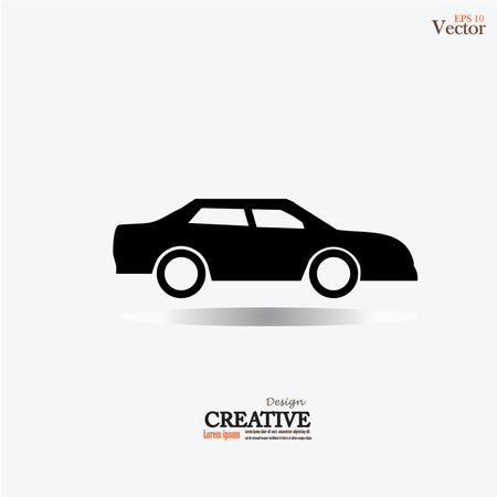 Icono del coche .car. Ilustración del vector. Ilustración de vector