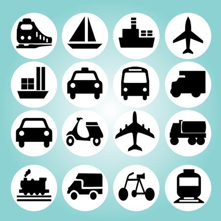 medios de transporte: Icons.transportation Transporte ilustración icon.Vector .logistics.logistic.