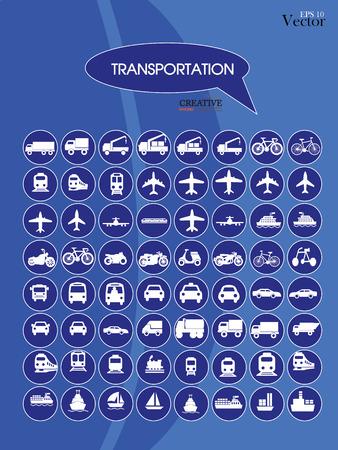 transport truck: Transport icons.transportation .logistics.logistic icon.vector illustration. Illustration