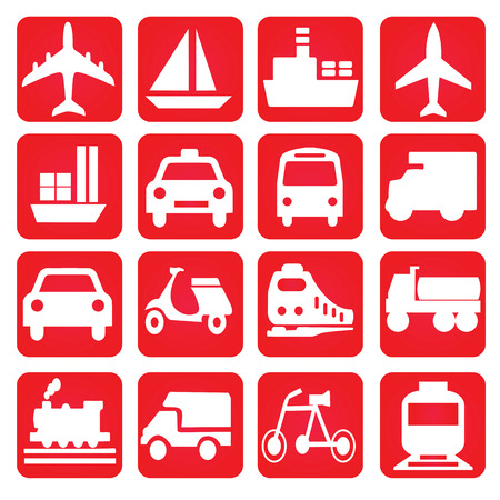 transportation: Trasporti icons.transportation .logistics.logistic icon.vector illustrazione. Vettoriali