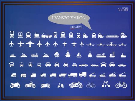 icons.transportation de transport sur chalkboard.transportation .logistics.logistic icon.vector illustration.