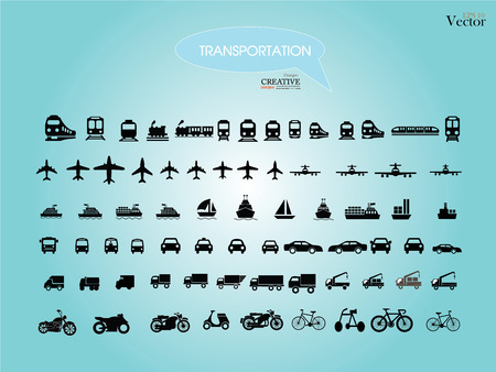 railway transportation: Transport icons.transportation .logistics.logistic icon.vector illustration. Illustration
