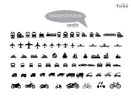 motorized: Transport icons.transportation .logistics.logistic icon.vector illustration. Illustration