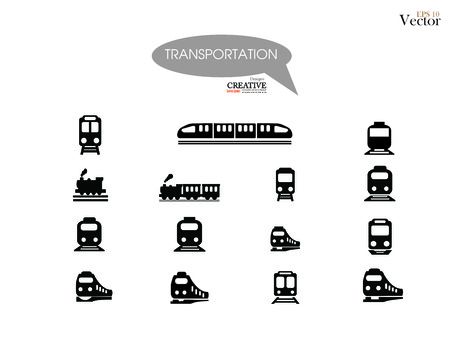 train vector on gray background .Transport icons,transportation vector illustration