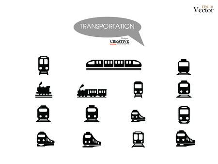 train vector on gray background .Transport icons,transportation vector illustration