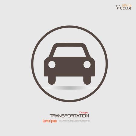 Car .car icon. Transportation icon.Vector illustration. Illustration