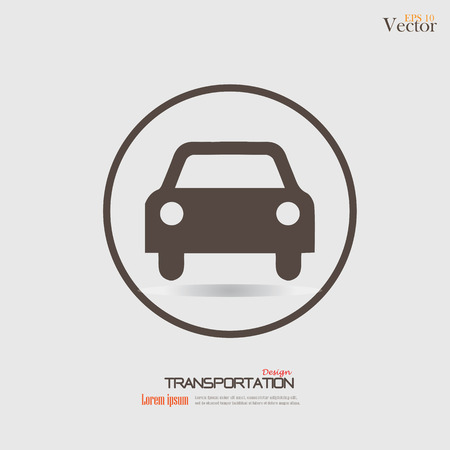 Pictogram auto .car. Vervoer icon.Vector illustratie.
