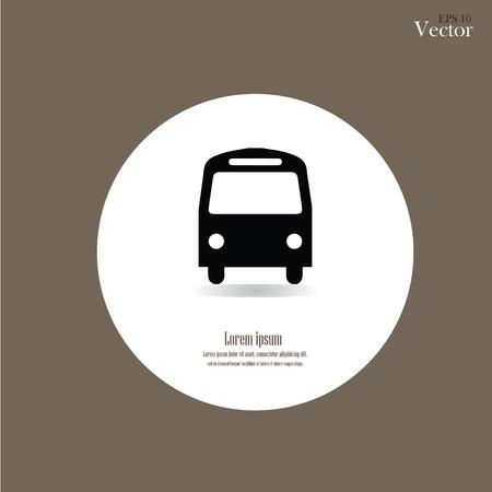 Bus pictogram op bruine achtergrond.Vectorillustratie.