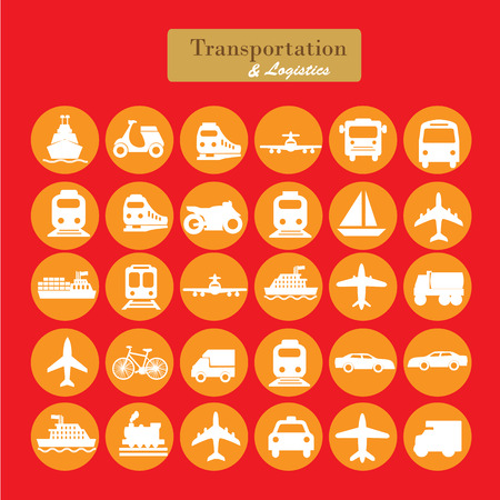motor transport: Transport icons.transportation .logistics.logistic icon.vector illustration. Illustration