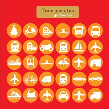 transport: Transport icons.transportation .logistics.logistic icon.Vector Illustration.