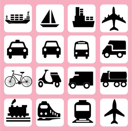 transportation icons: Transport icons.transportation .logistics.logistic icon.vector illustration. Illustration