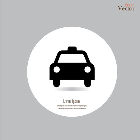 Taxi Icon.taxi pictogram vector.taxi.vector illustratie. Stockfoto - 43464732