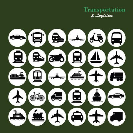 はしけ: Icons.transportation を転送します。 logistics.logistic icon.vector イラスト。  イラスト・ベクター素材